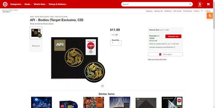 AFI-Bodies-Target-Exclusive-CD-Target